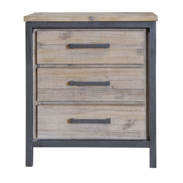 Wimberley 3 Drawer Nightstand by Union Rustic