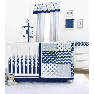 Whale 6 Piece Crib Bedding Set