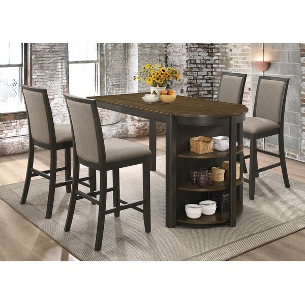 Flara 5 Piece Counter Height Dining Set by Red Barrel Studio Red Barrel Studio