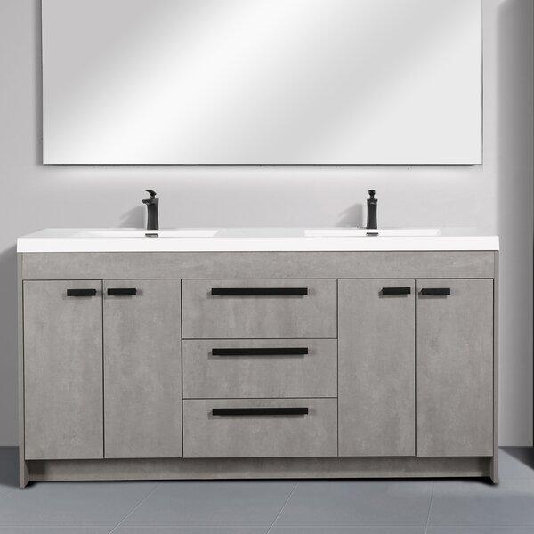 Zuzanna Modern 72 Double Bathroom Vanity Set