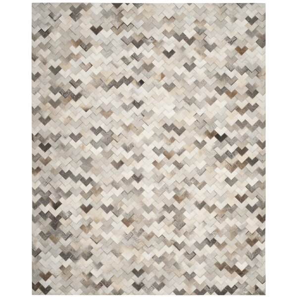 Stasia Hand-Woven Gray Area Rug by Union Rustic