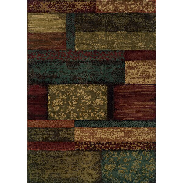 Bienville Woven Brown/Teal Area Rug by Andover Mills