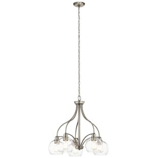 Hoover 5-Light Shaded Chandelier by Latitude Run