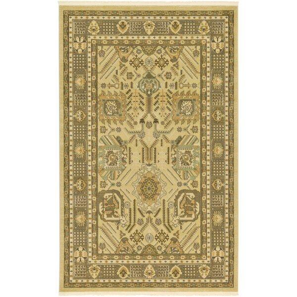Jana Cream Tibetan Area Rug by Bloomsbury Market