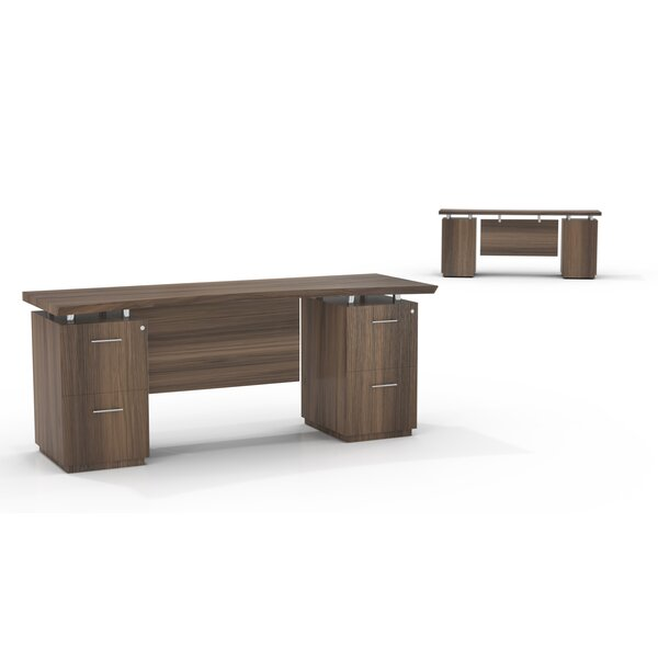 Sterling Double Pedestals Executive Desk with 2 Right & 2 Left Drawers by Mayline Group