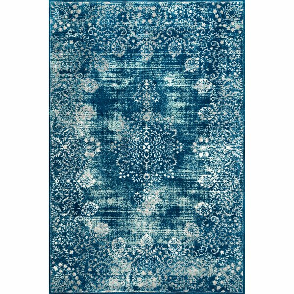 Ellar Blue Area Rug by Bungalow Rose