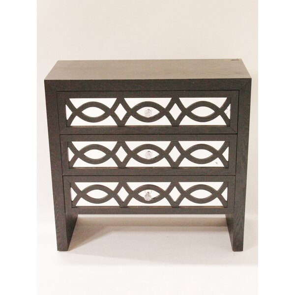 Carleen Wood Accent Chest with Mirror by World Menagerie