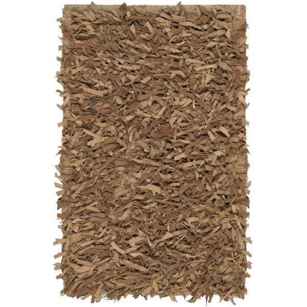 Albany Hand-Knotted Solid Brown Area Rug by Zipcode Design