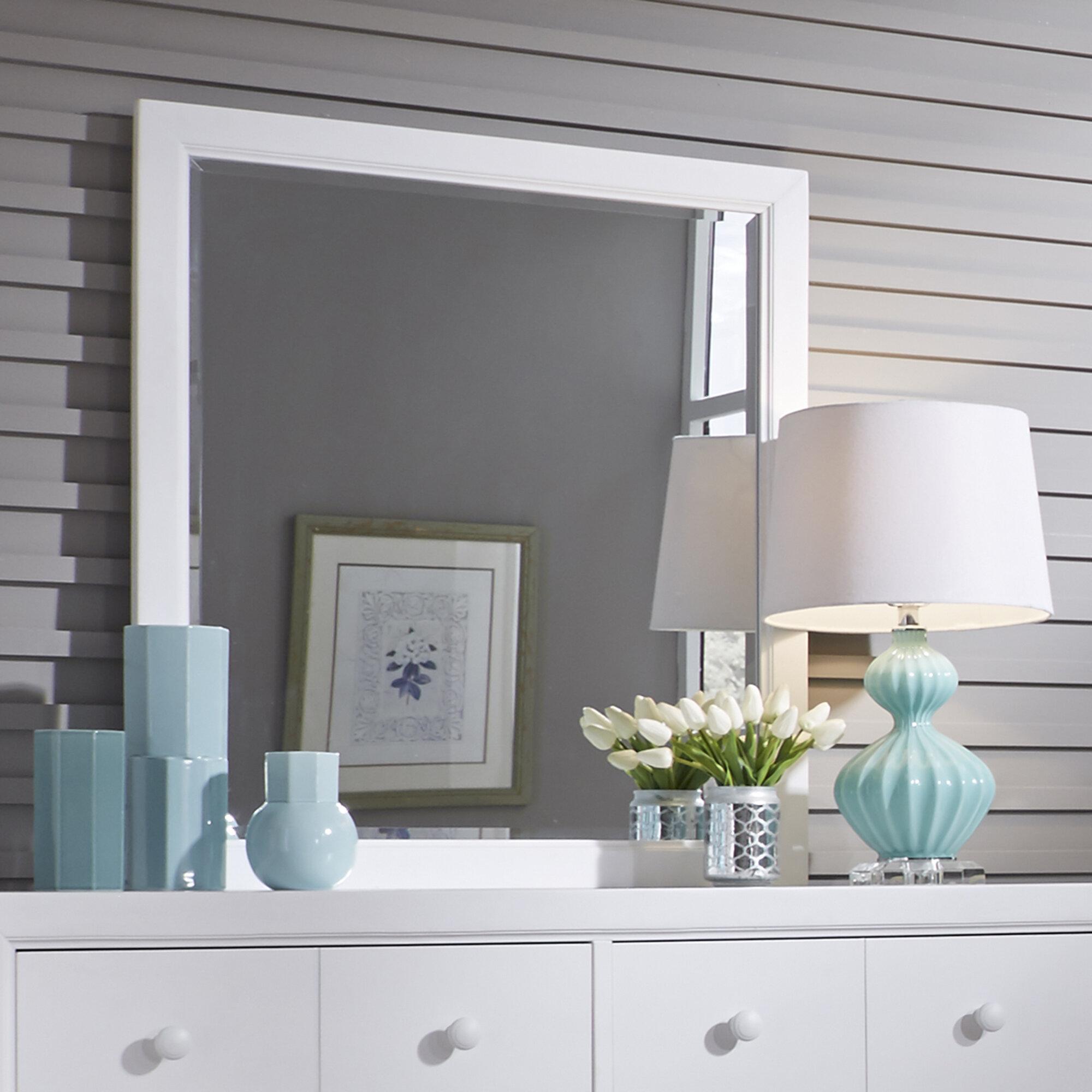 Three Posts Teen Kennell Modern Contemporary Beveled Dresser Mirror Reviews Wayfair