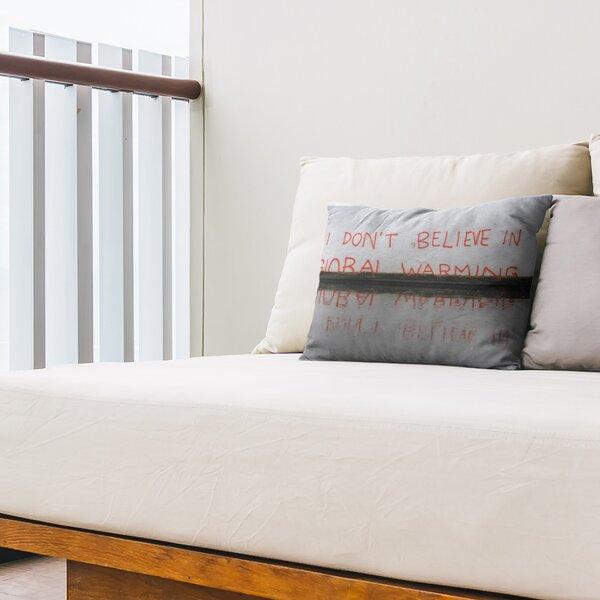 Don't Believe in Global Warming Close Indoor / Outdoor 14 Lumbar Pillow