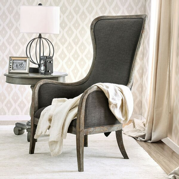 Jaida Wingback Chair by One Allium Way