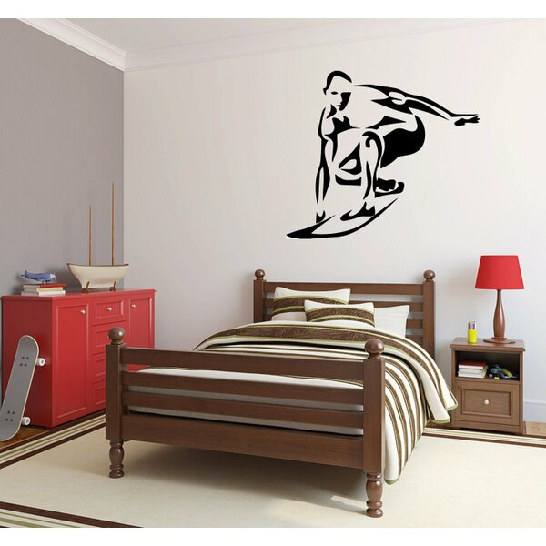 Hurwitz Surfer Surfing Wall Decal by Zoomie Kids