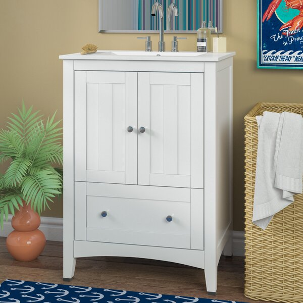 Artic 24 Plywood-veneer Single Bathroom Vanity Set by Longshore Tides