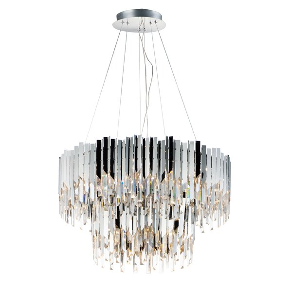 Easterling 16 - Light Unique / Statement Tiered Chandelier By Everly Quinn