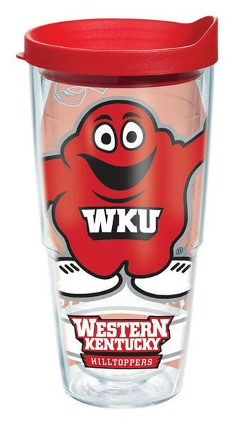 Collegiate Western Kentucky Plastic Travel Tumbler by Tervis Tumbler