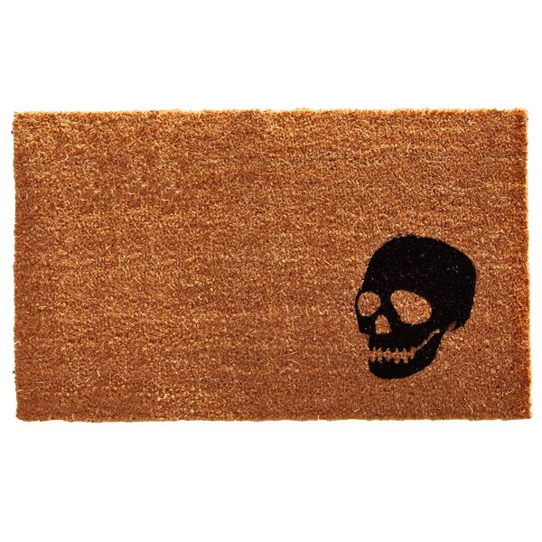 Rectangle Skull Doormat by The Holiday Aisle