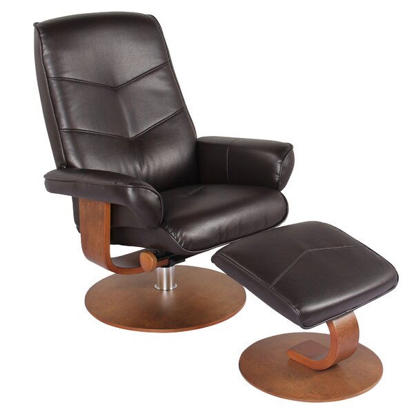 Cheap Price Sascha Recliner Manual Swivel Recliner With Ottoman