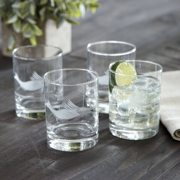 Swordfish Etched Rocks Glasses (Set of 4) by Birch Lane™