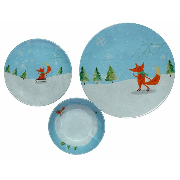 Winter Fox 36 Piece Dinnerware Set, Service for 12 (Set of 12) by The Holiday Aisle