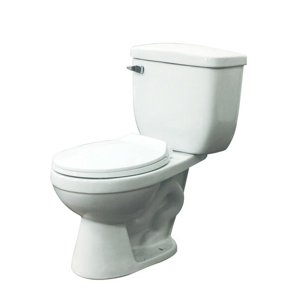 Madison 1.28 GPF Elongated Two-Piece Toilet by Transolid