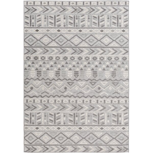 Maconay Global-Inspired Light Gray/Taupe Indoor/Outdoor Area Rug by Union Rustic