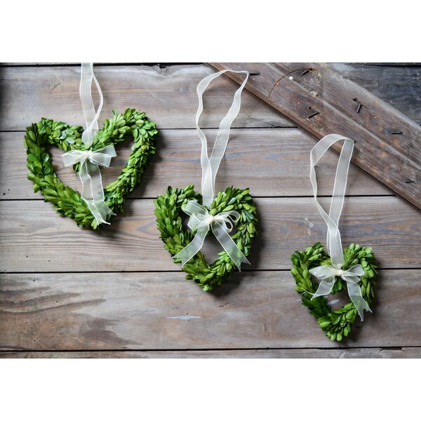 Preserved Boxwood Heart Wreaths by Birch Lane™
