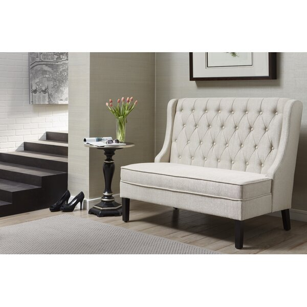 Moriah Upholstered Bench by Three Posts