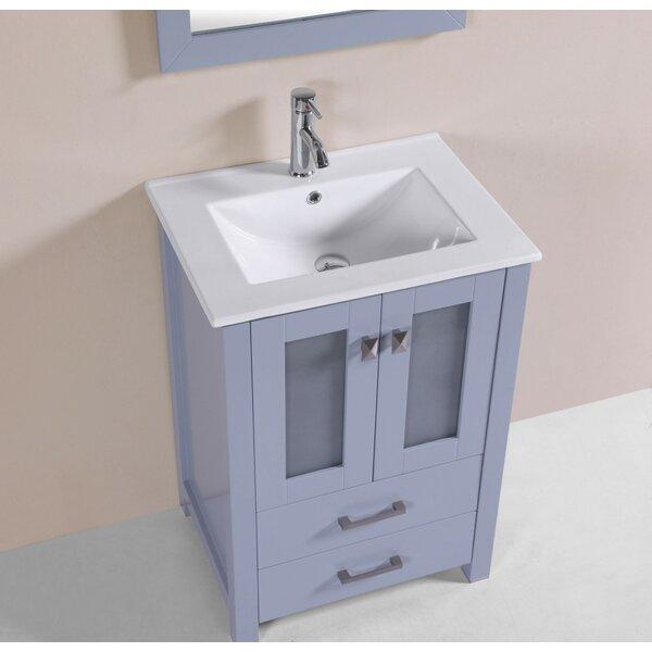 Lapp 24 Gray Single Modern Bathroom Vanity with Integrated Sink by Latitude Run