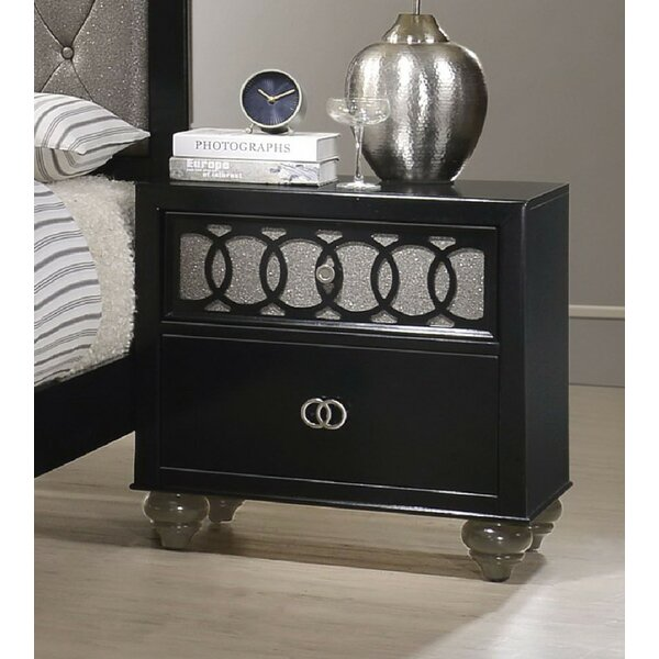 Gingrich 2 Drawer Nightstand By Everly Quinn by Everly Quinn Discount
