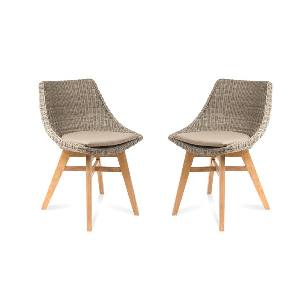 Coleman Patio Dining Chair with Cushion (Set of 2) by Foundry Select