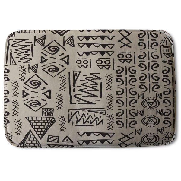 Biddeford Ethnic and Tribal Motifs Designer Rectangle Non-Slip Bath Rug