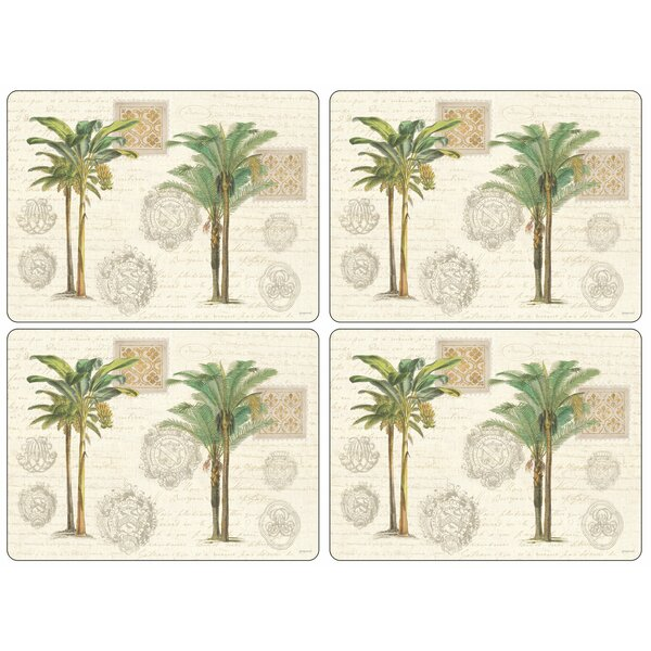 Palm Study 16 Placemat (Set of 4) by Pimpernel