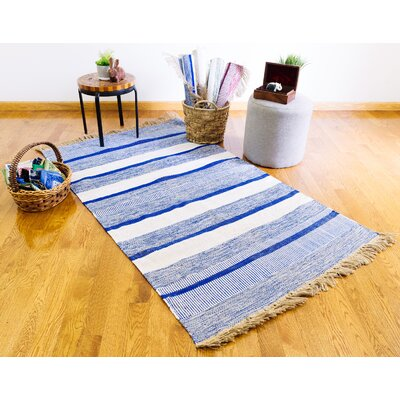 Breakwater Bayplaid Striped Hand Knotted Blue Area Rug Breakwater Bay Rug Size Rectangle 2 X 3 Dailymail