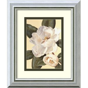 'Morning Magnolia' Framed Graphic Art by Charlton Home