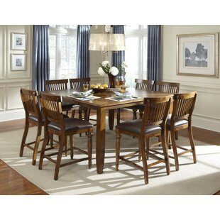 Attirant Delphina 9 Piece Counter Height Solid Wood Pub Set. By American Heritage
