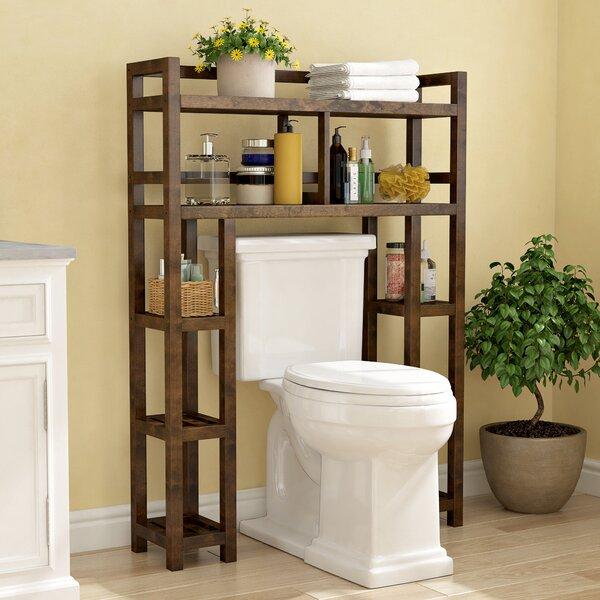 Corte 34.46 W x 48 H Wood Bathroom Shelf by Charlton Home