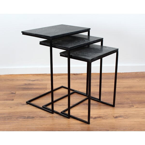 Sharen Slate 3 Piece Nesting Tables by 17 Stories