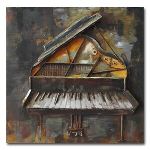 'Piano' Graphic Art Print on Metal by 17 Stories