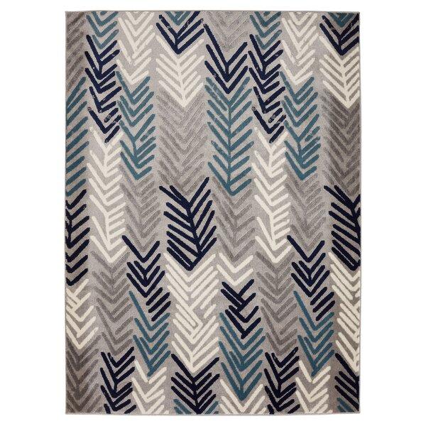 Daniella Gray/Blue Area Rug by Ebern Designs