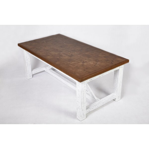 Meade Solid Wood Dining Table by Rosecliff Heights