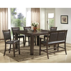 6 Piece Counter Height Pub Table Set by BestMasterFurniture