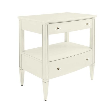 Nightstand Drawer Saltbox White pic