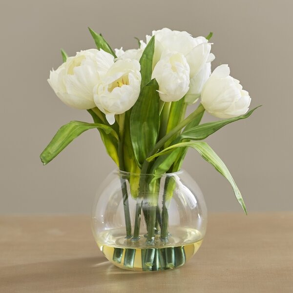 Tulips Arrangement with Vase by Willa Arlo Interiors