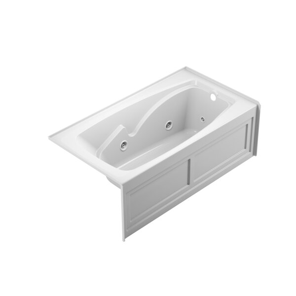 Cetra Right-Hand Heater and Chroma 60 x 32 Skirted Whirlpool Bathtub by Jacuzzi®