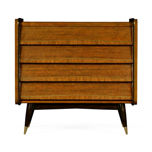 Cosmo Hyedua 4 Drawer Accent Chest by Jonathan Charles Fine Furniture Jonathan Charles Fine Furniture