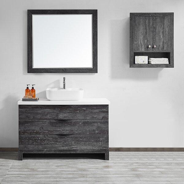 Kelsey 48 Single Bathroom Vanity Set with Mirror by Union Rustic