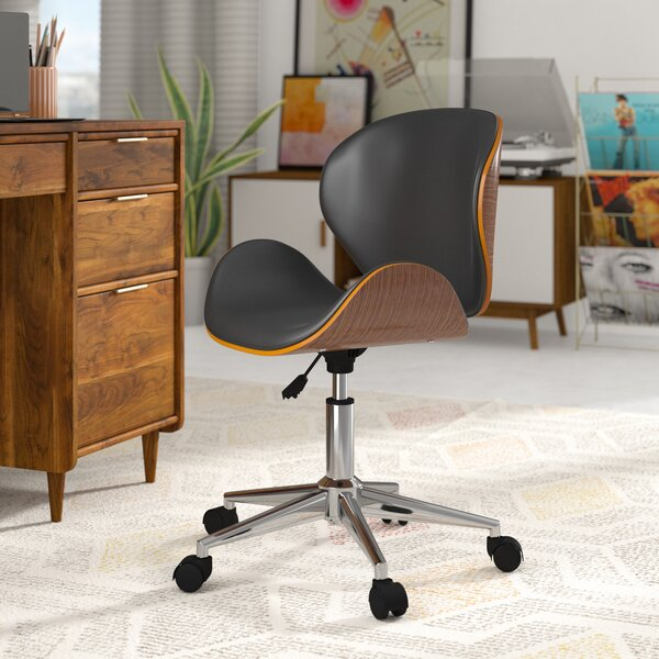 Bradford Adjustable Office Low-Back Drafting Chair by George Oliver