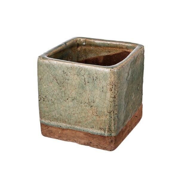 Chesterle Square Shaped Ceramic Pot Planter by Fleur De Lis Living