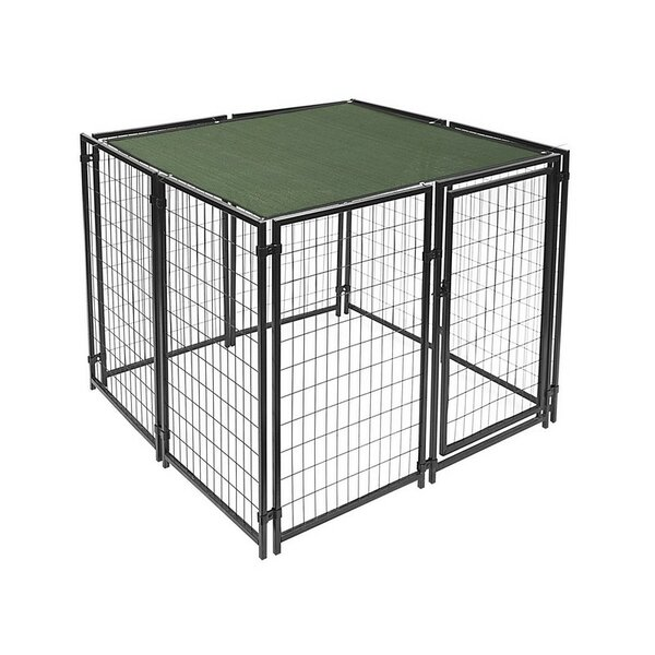 Heavy Duty Pet Playpen Yard Kennel with Shade Cover With Aluminum Grommets by ALEKO