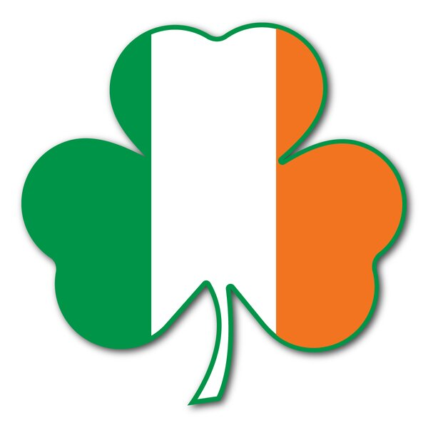 Flag Shamrock Magnet by The Holiday Aisle